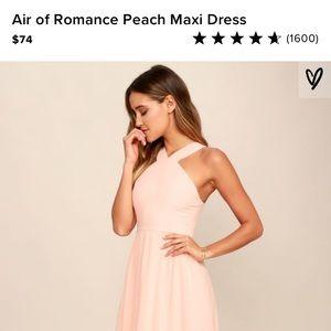 Lulu's Air of Romance Peach Maxi Dress